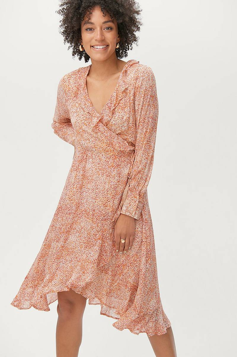 Omslagskjole Floral LS Wrap Dress