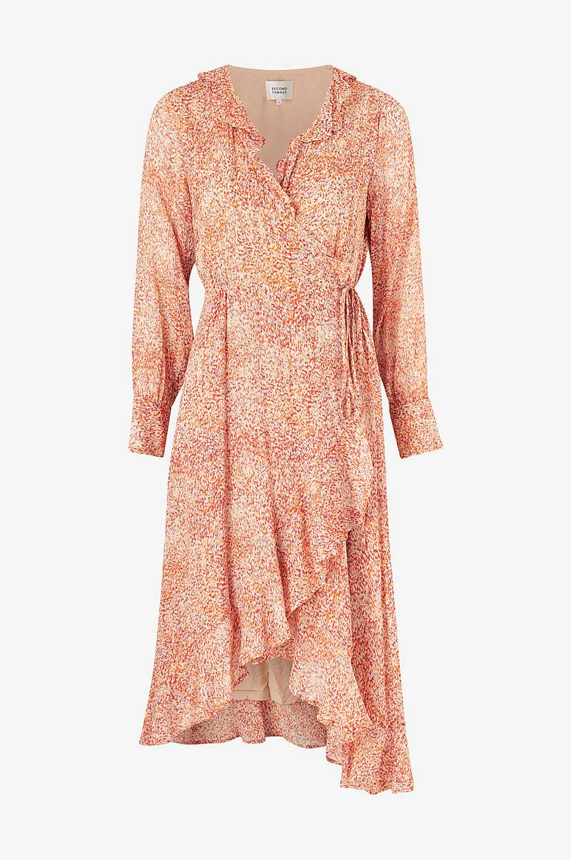 Omlottklänning Floral LS Wrap Dress