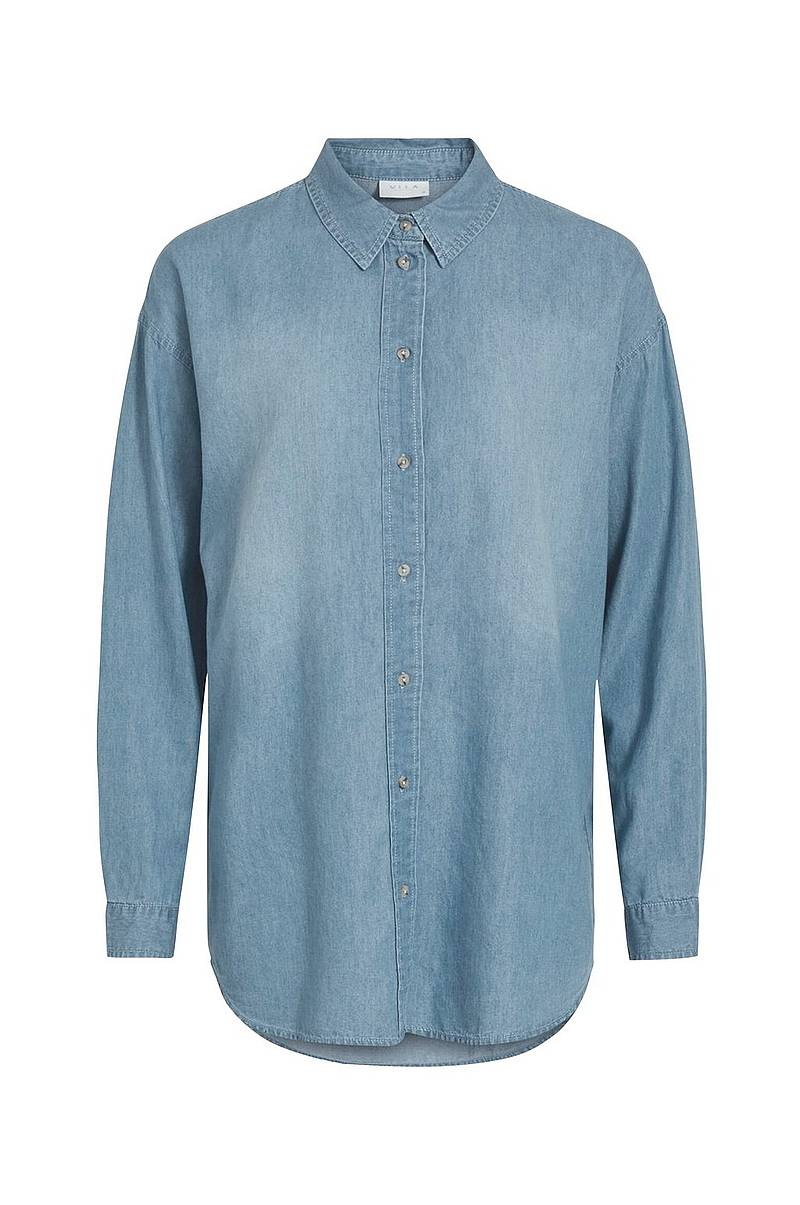 Denimskjorte viFlash L/S Shirt