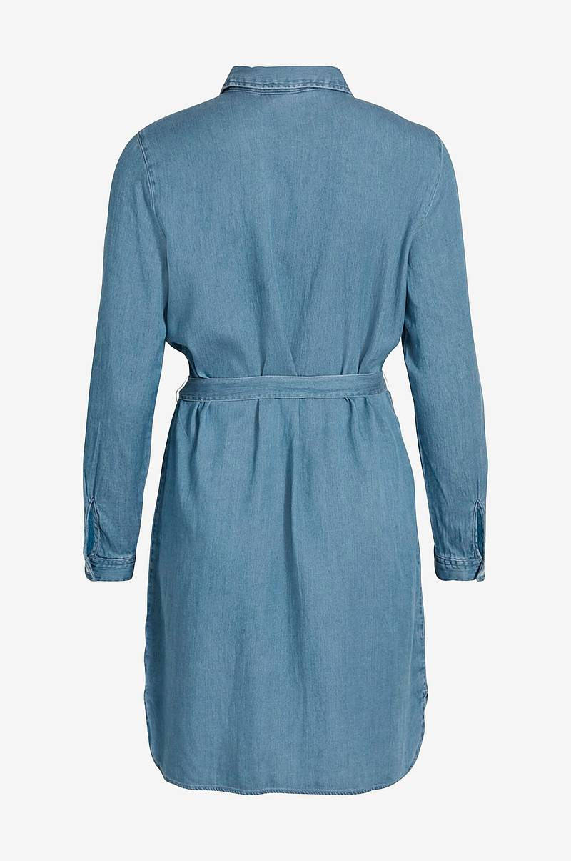 Kjole viBista Denim Belt Dress
