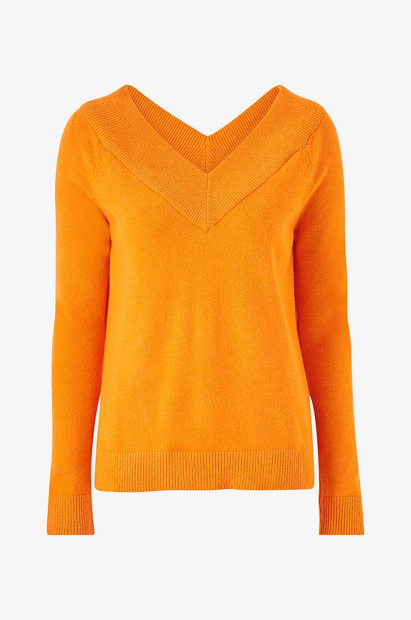 Trøje viRil L/S DB V-neck Knit Top-Fav