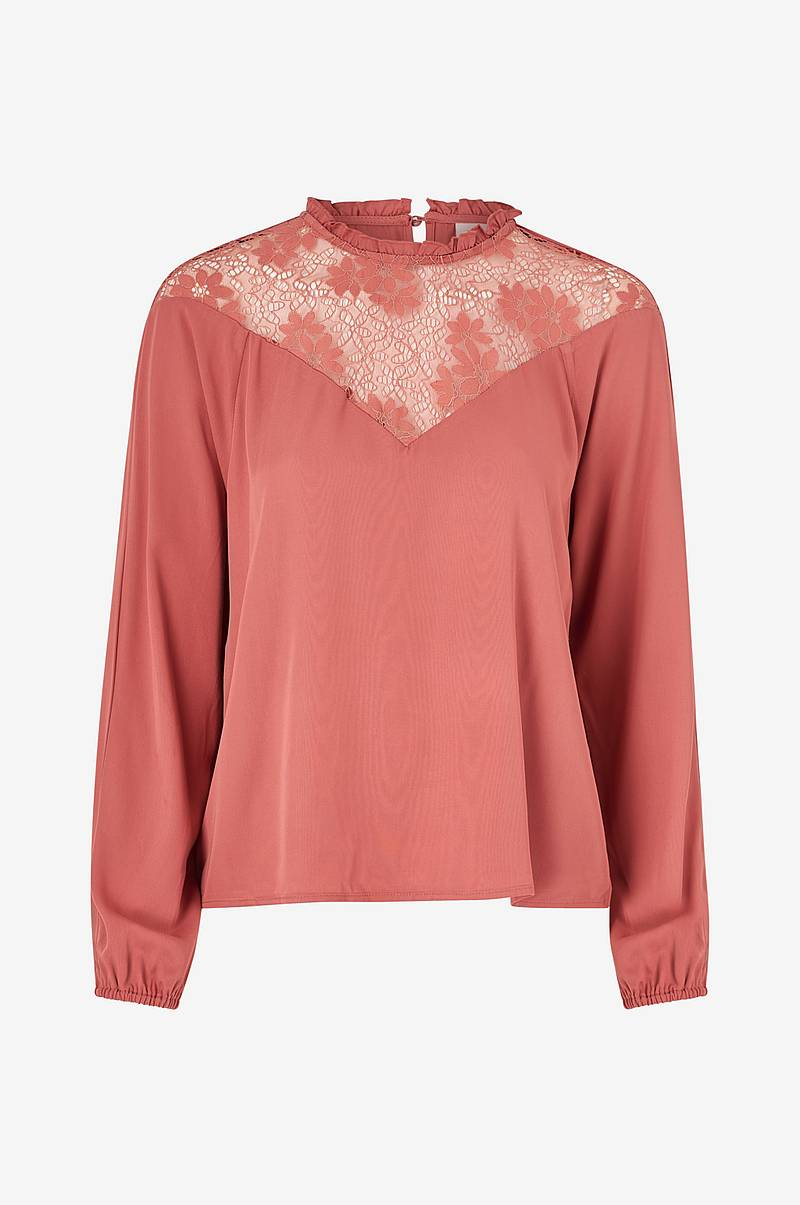 Top viSuvita L/S Lace Top
