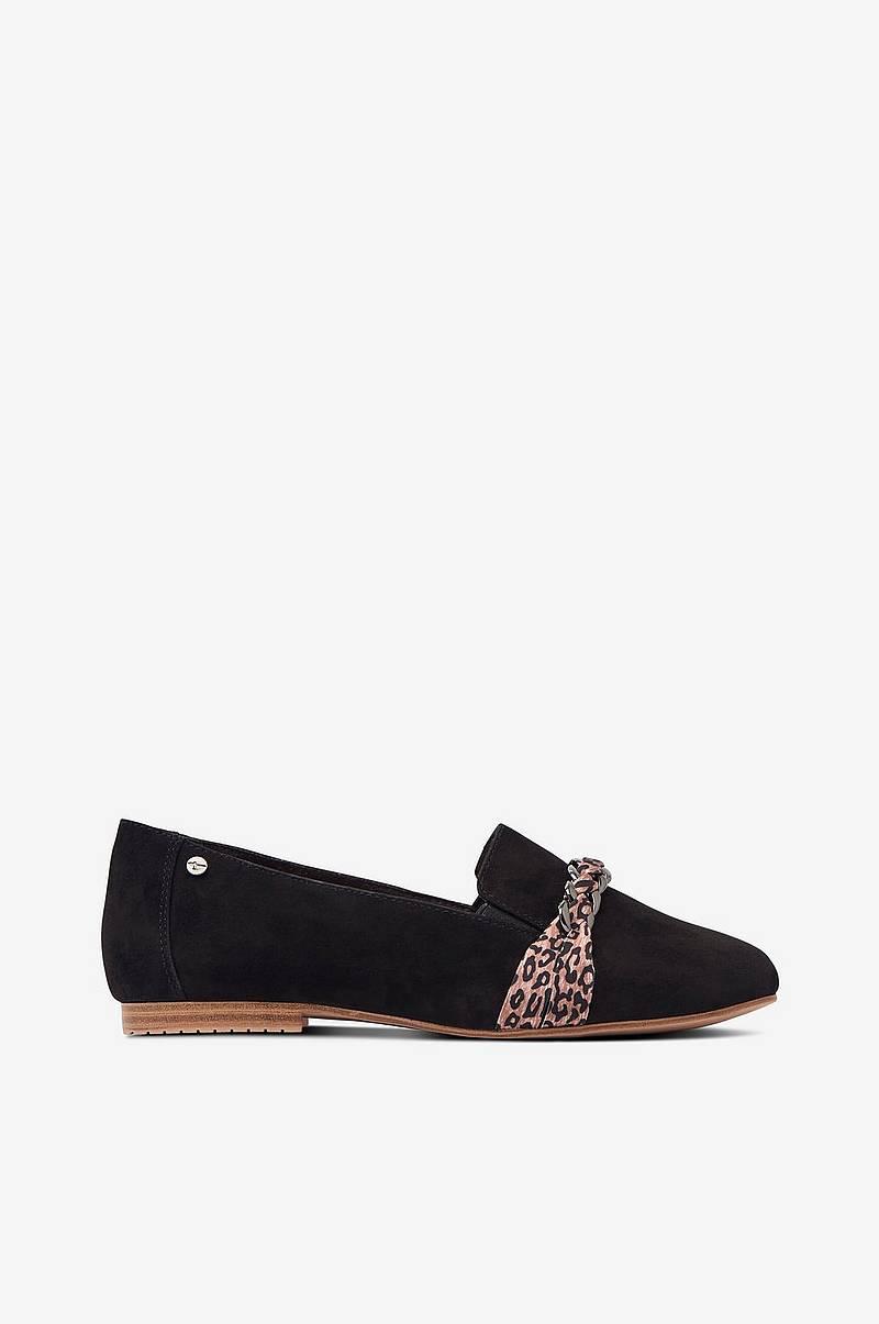 Trendig Dam Ellos Skor Sneakers slip on med glitter Vit