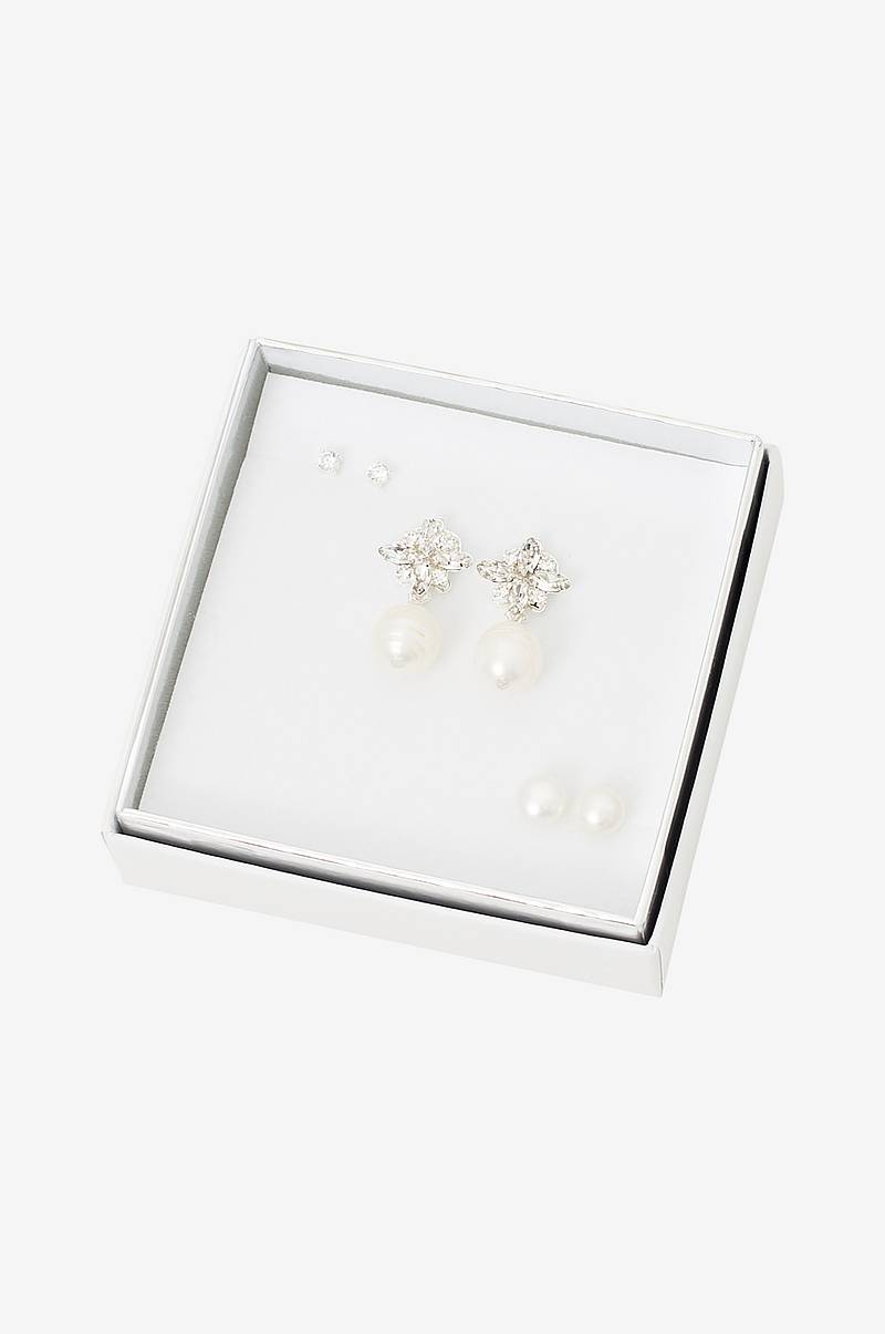 Örhängen Crystal Pearl Ear Set 3-pack