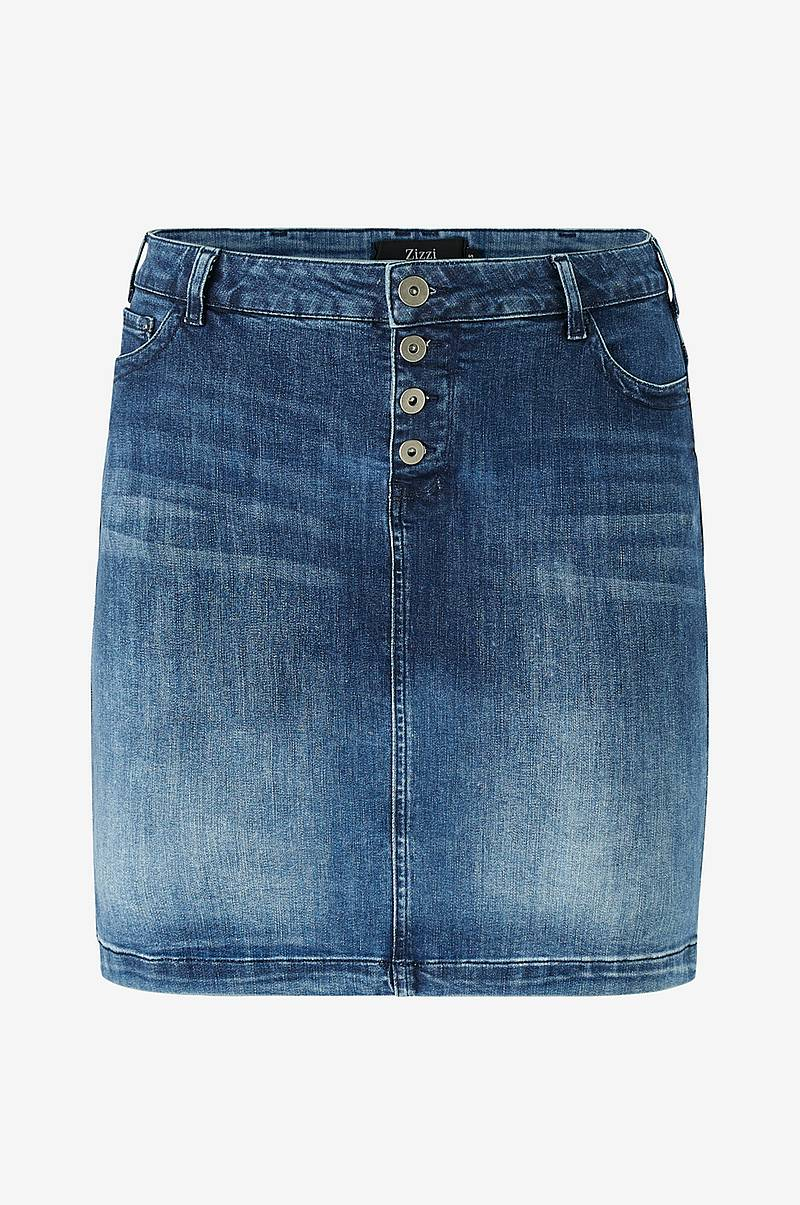 Denimnederdel jAlly Knee Lenght Skirt