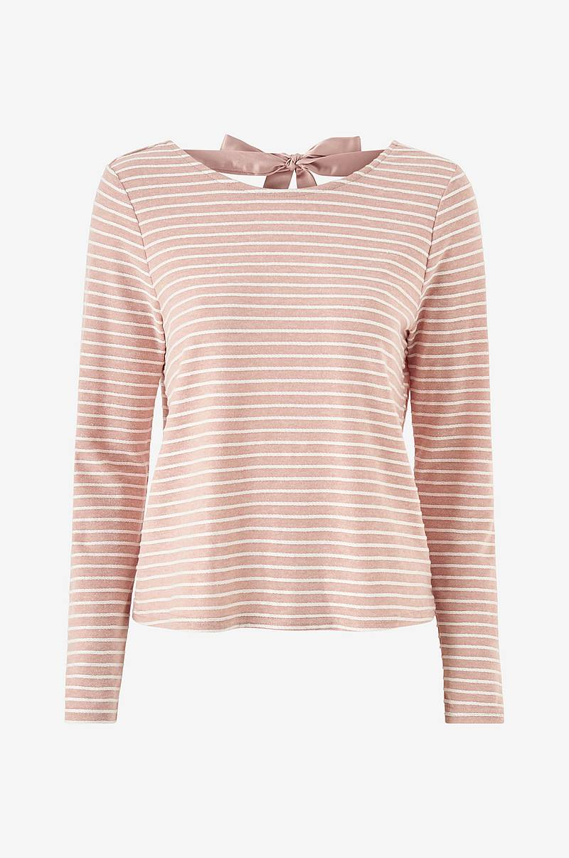 Topp onlElly Stripe L/S Bow Top