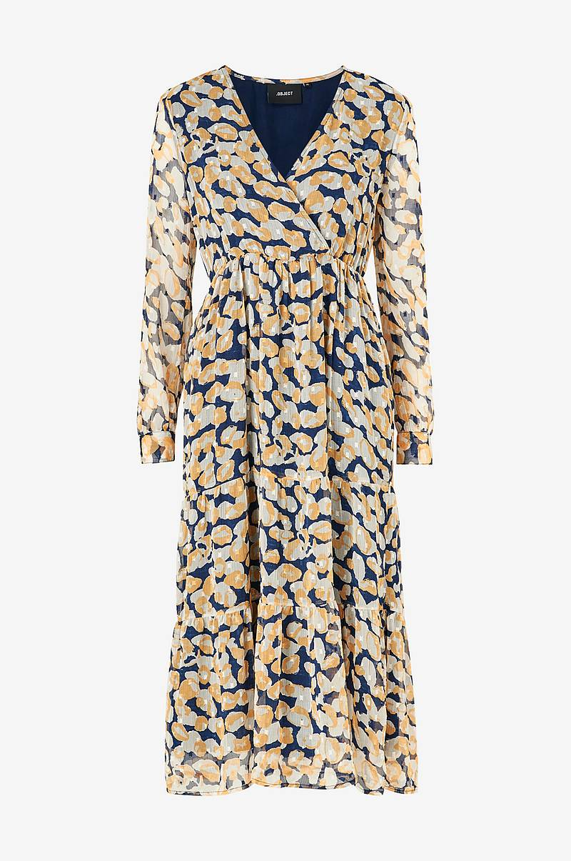 Kjole objIngrid L/S Wrap Dress