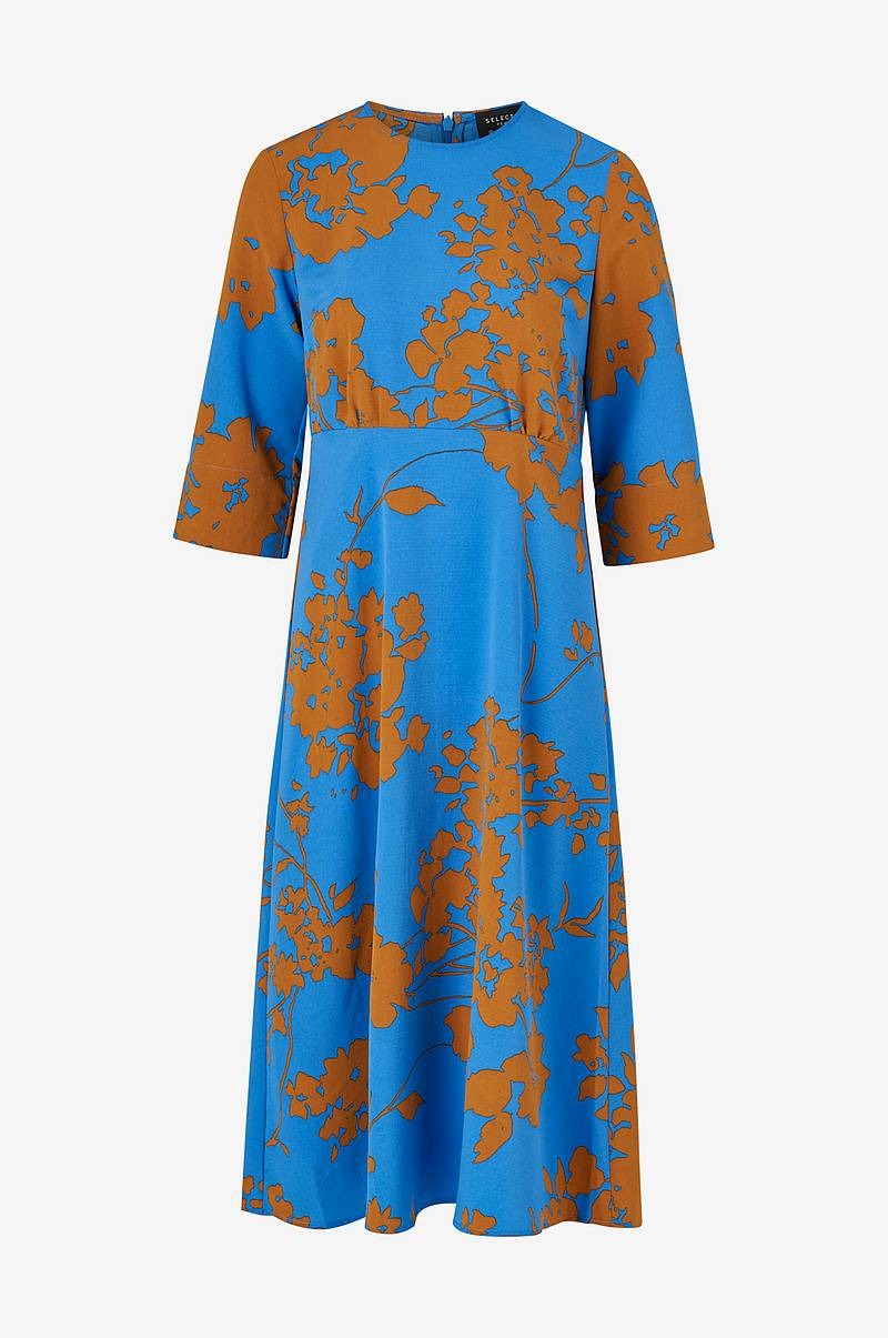 Mekko slfJade-Oriana 3/4 Aop Midi Dress