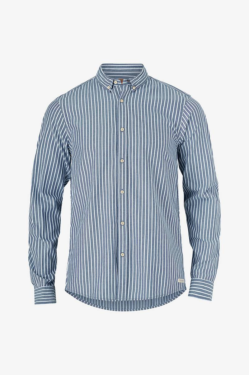 Skjorte Oxford med button down-krage
