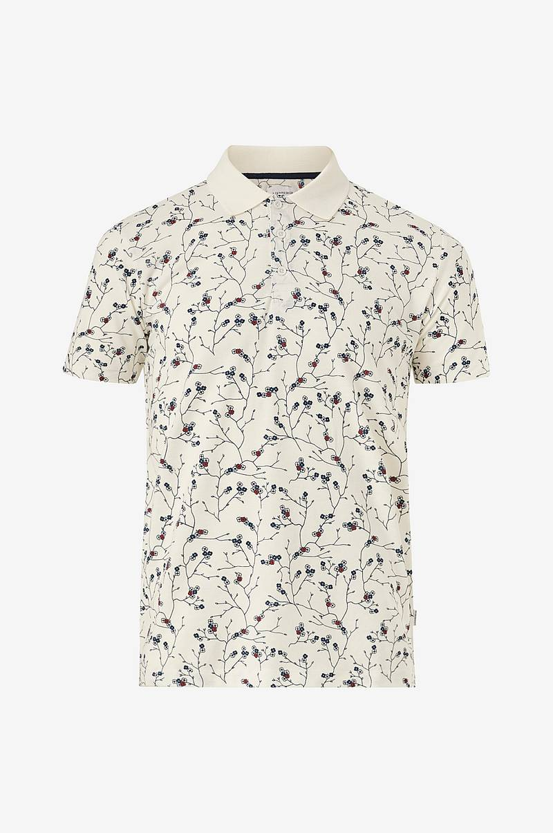 Floral print polo shirt S/S