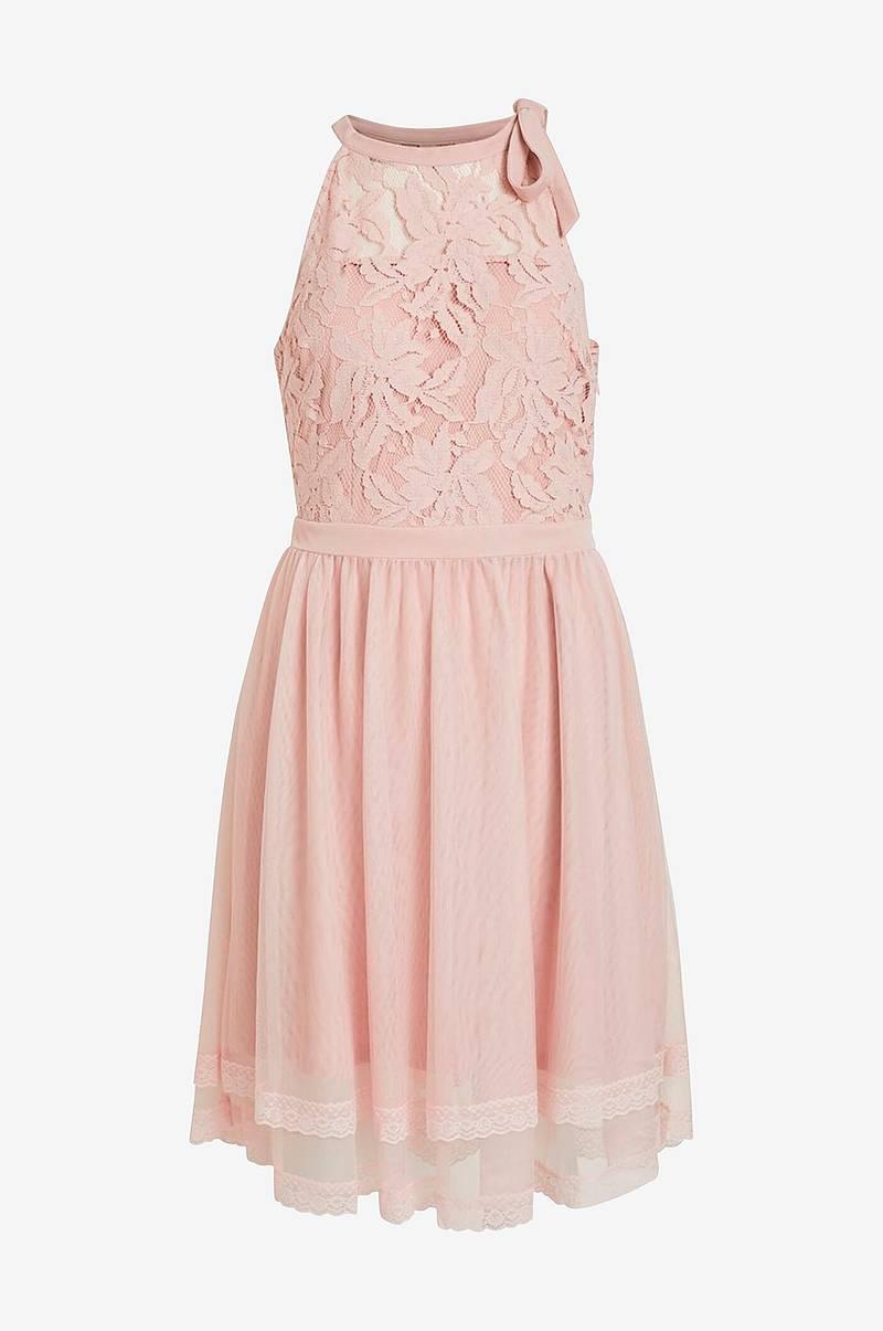 Blondekjole Yas brun, brun kjole i blonde. Holi kjole fra Yas.