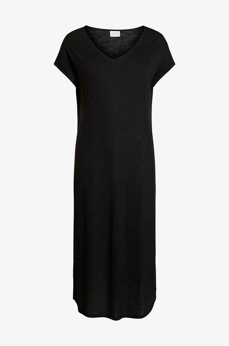 Kjole viNoel S/S V-neck Medi Dress