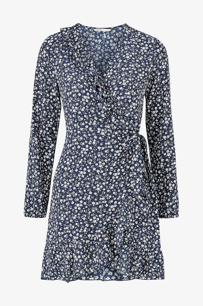 Omlottklänning onlCarly L/S Wrap Short Dress