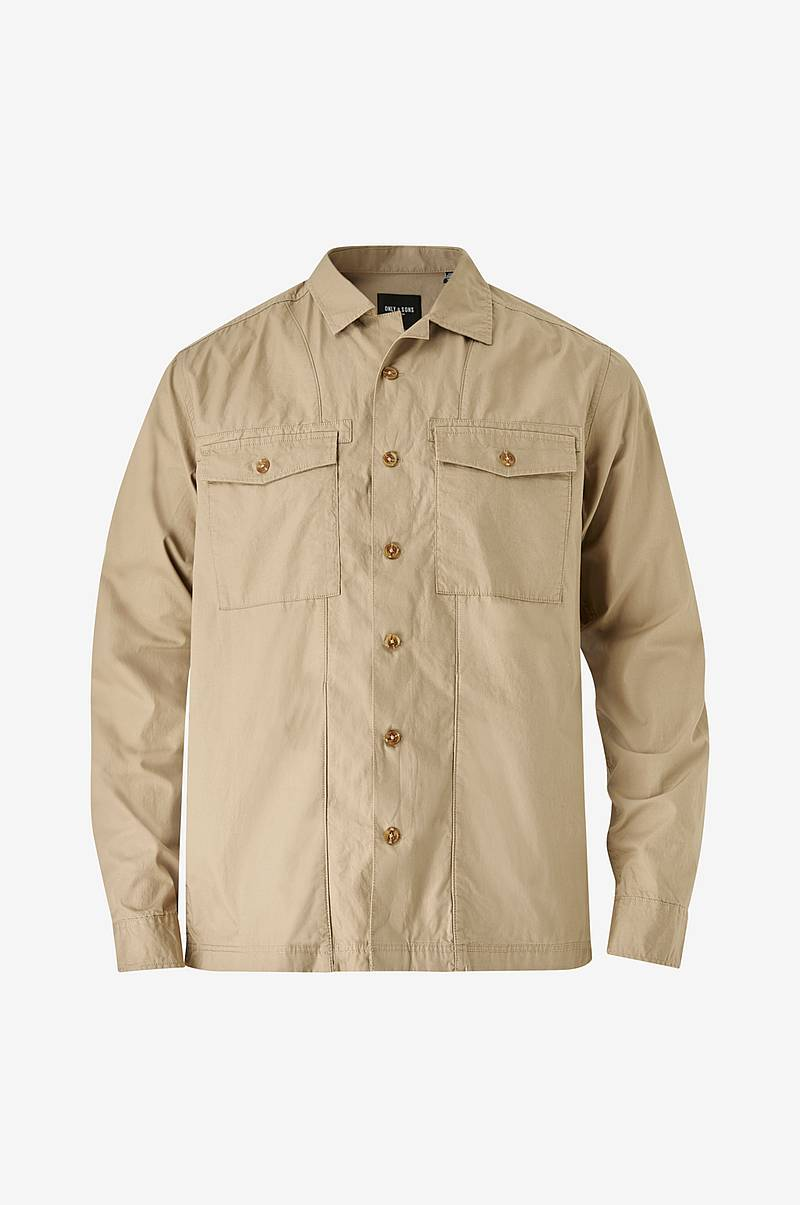 Skjorte onsAiden LS Light Overshirt