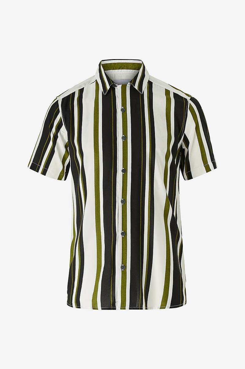 Skjorta onsWayni SS Striped Viscose Shirt