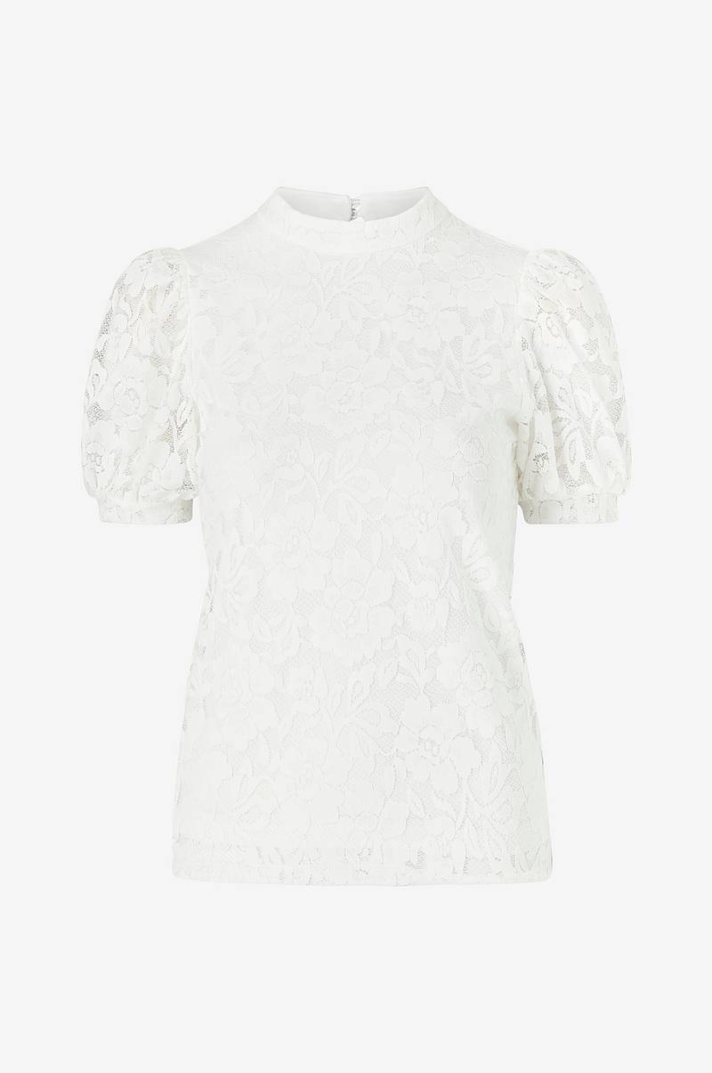 Blondetop viLilja S/S Puff Sleeve Lace Top