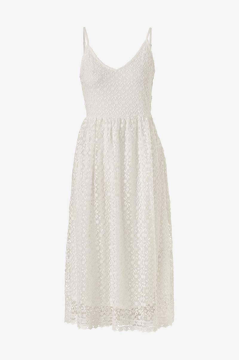 Blondekjole viGlow S/L Midi Dress