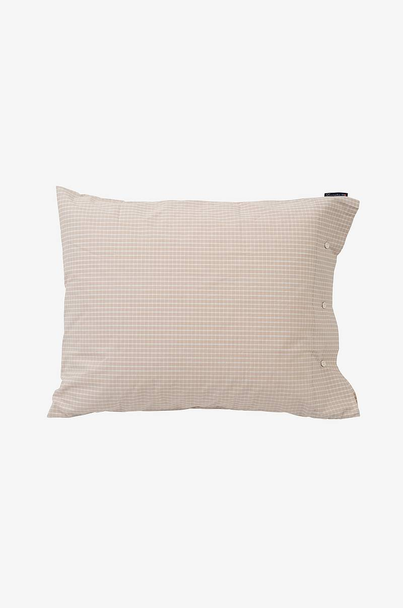 Örngott Beige Checked Tencel Pillowcase