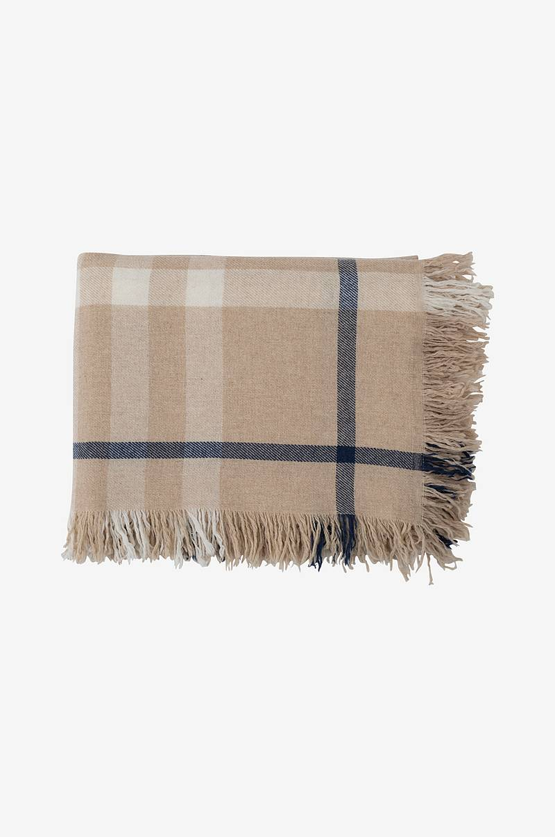 Plaid Checked Wool Throw