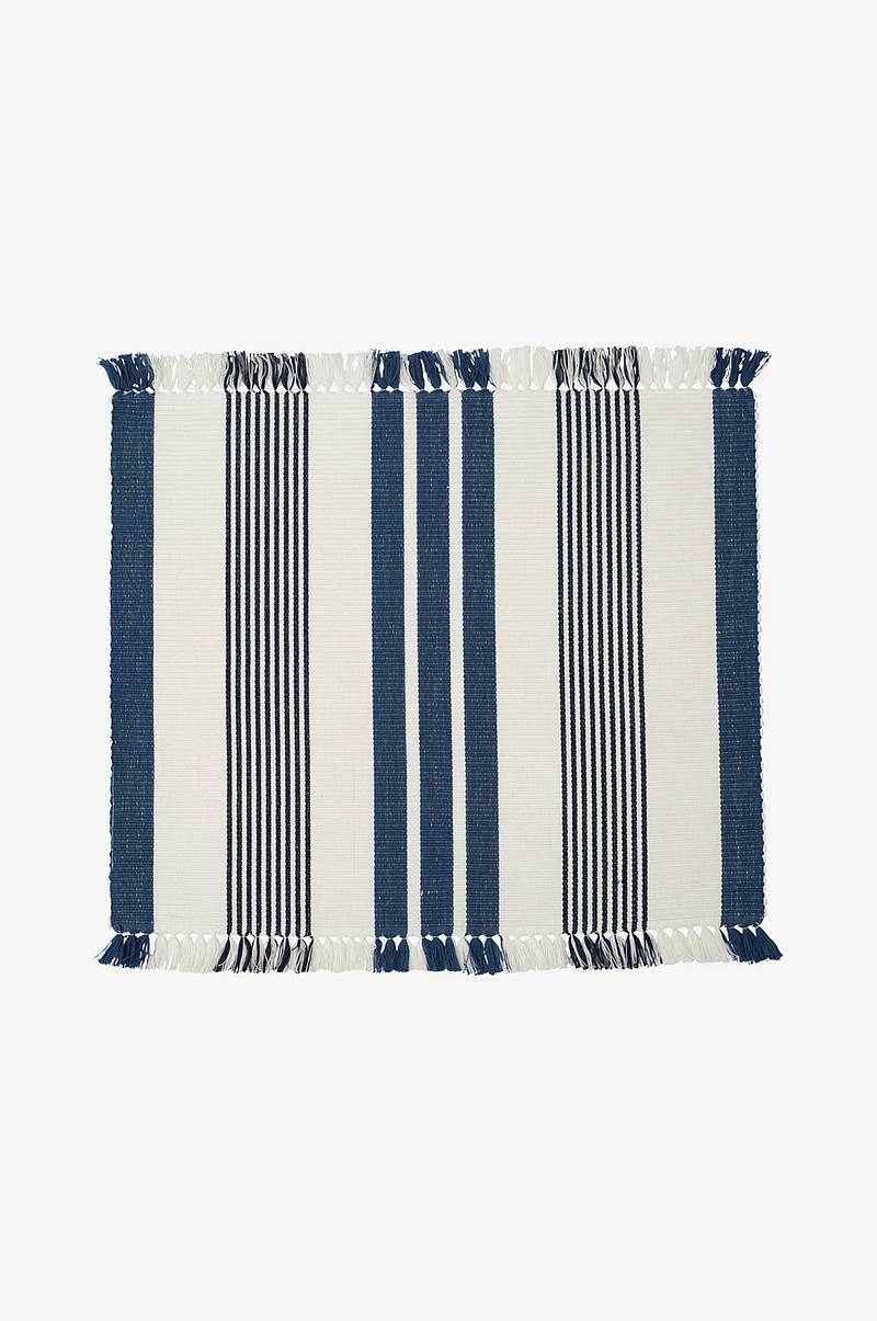 Dækkeserviet Striped Fringe Placemat
