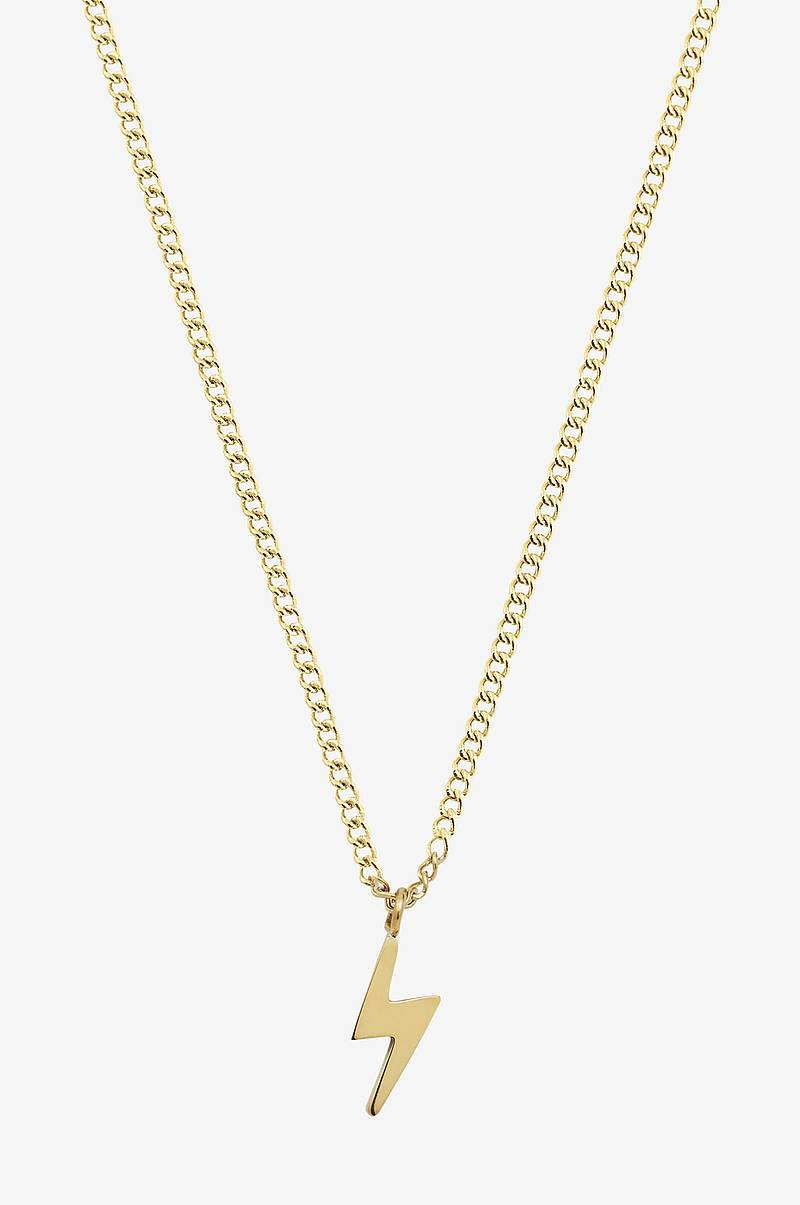 Halskjede Lightning Mini Necklace Gold
