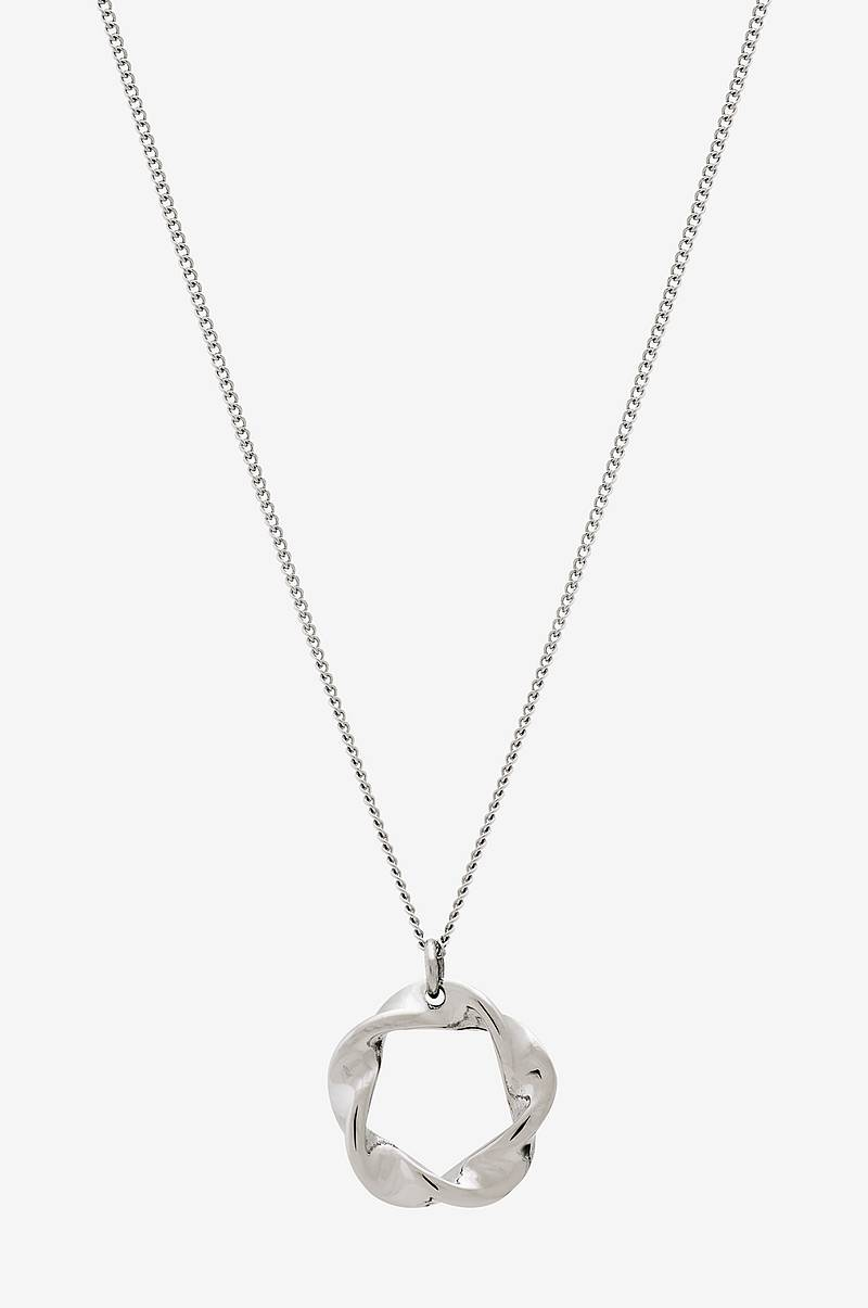 Halskjede Swirl Necklace Small Steel