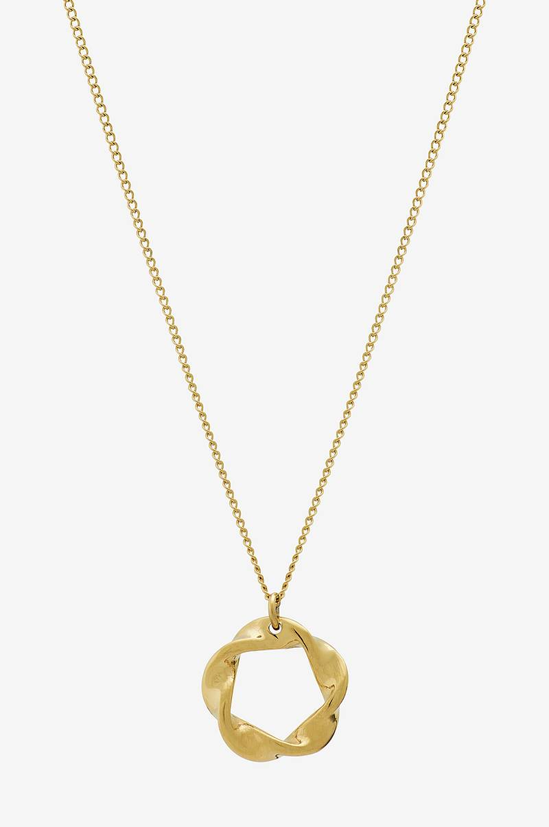 Halskjede Swirl Necklace Small Gold