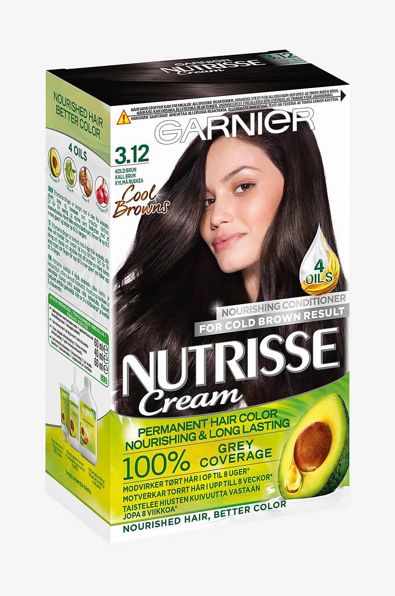 Hårfarve Nutrisse Frozen Brown 3.12