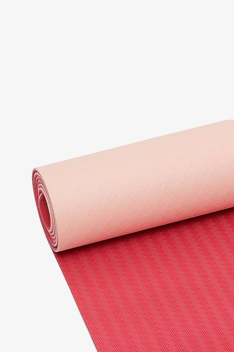 Yoga mat position 4mm Pink/red