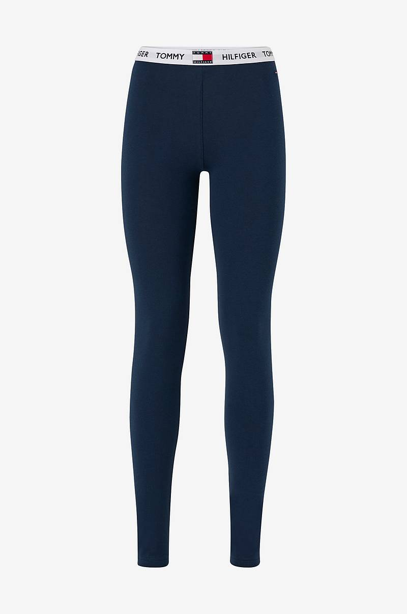 Leggings med resårlinning