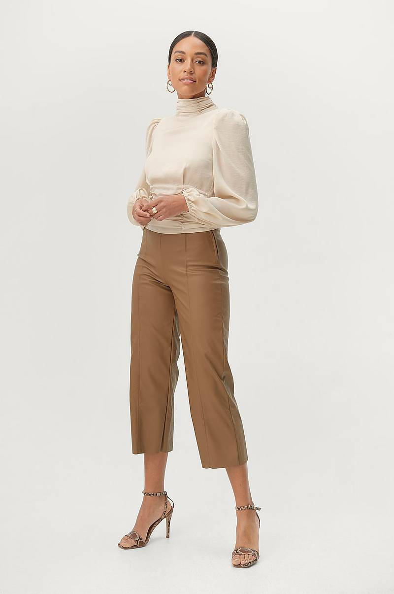 Bukser Holly PU Culotte Trousers