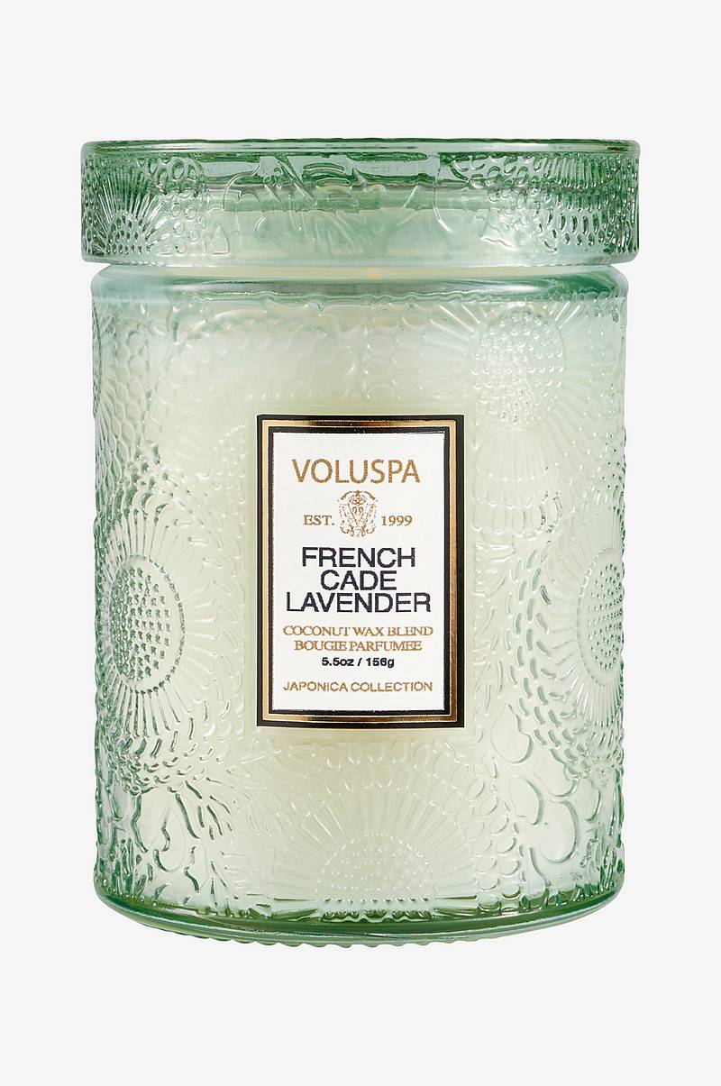 French Cade & Lavender Mini Glass Jar 50 tim