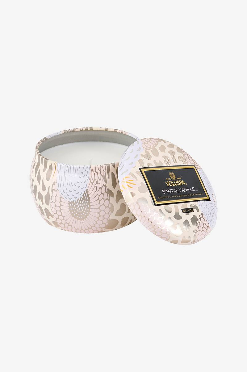 Santal Vanille Decorative Tin Candle 25 timer