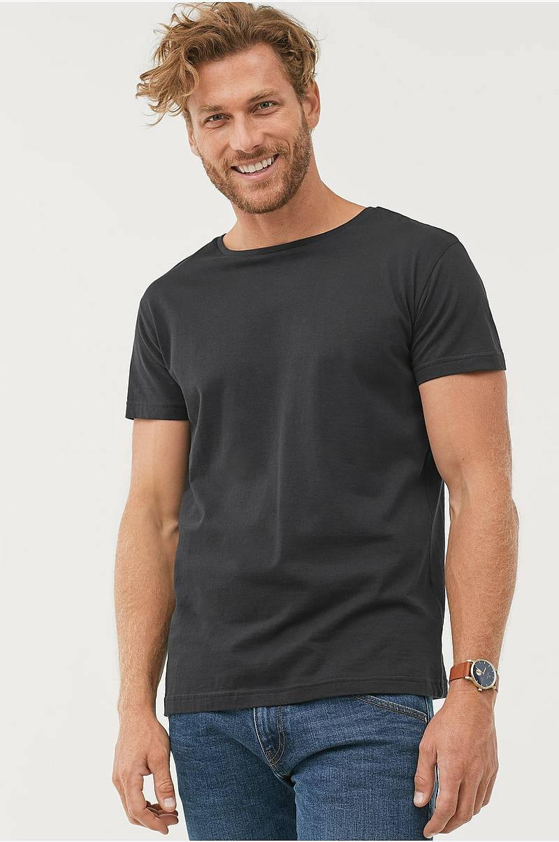 73847b9335a T-shirt med rund hals