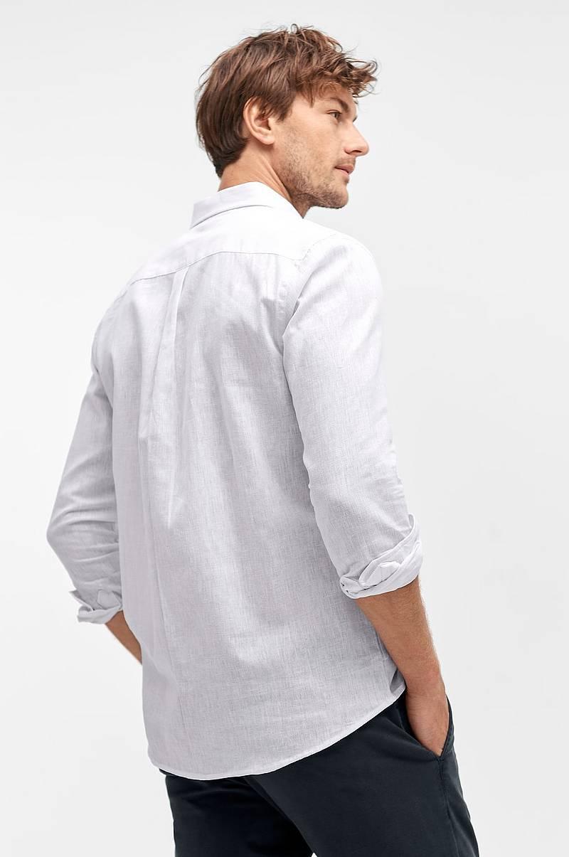 a810321dcfea Skjorte i hør- og bomuldsblanding