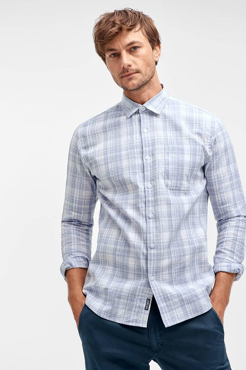 5801d6b4 Skjorte i lin/bomullsblanding