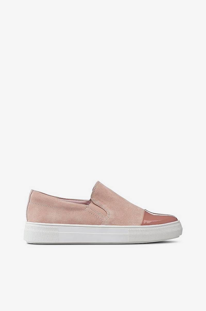 Sneakers Slip On Shiny Toe