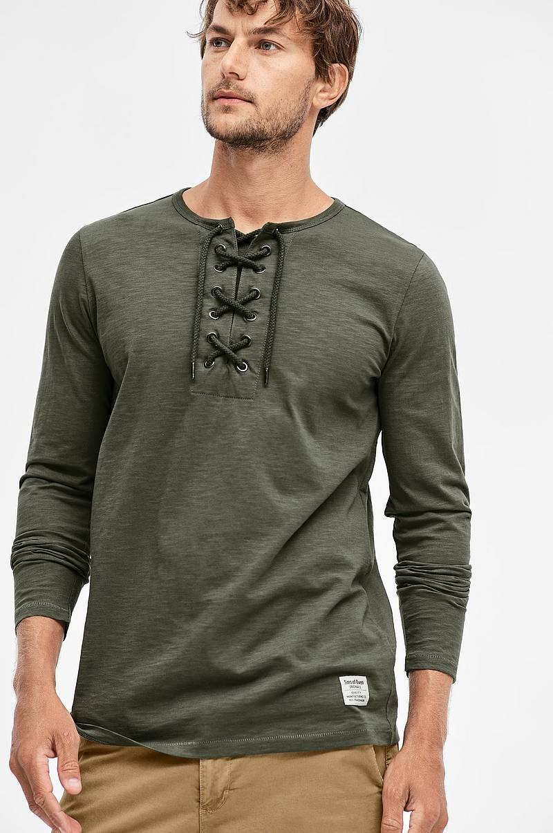 f22c2c72a5bb T-shirt med snøre