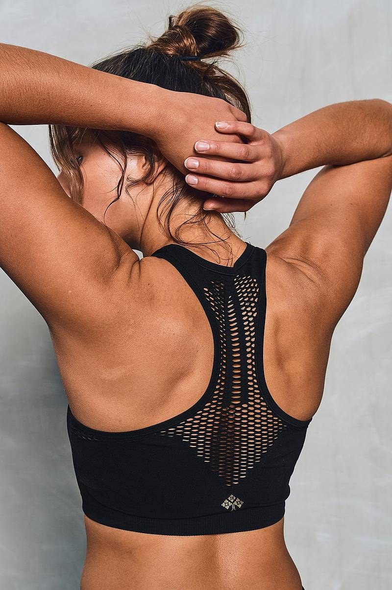 Discounted Adidas Training Crop Top Warp Knit Women Black