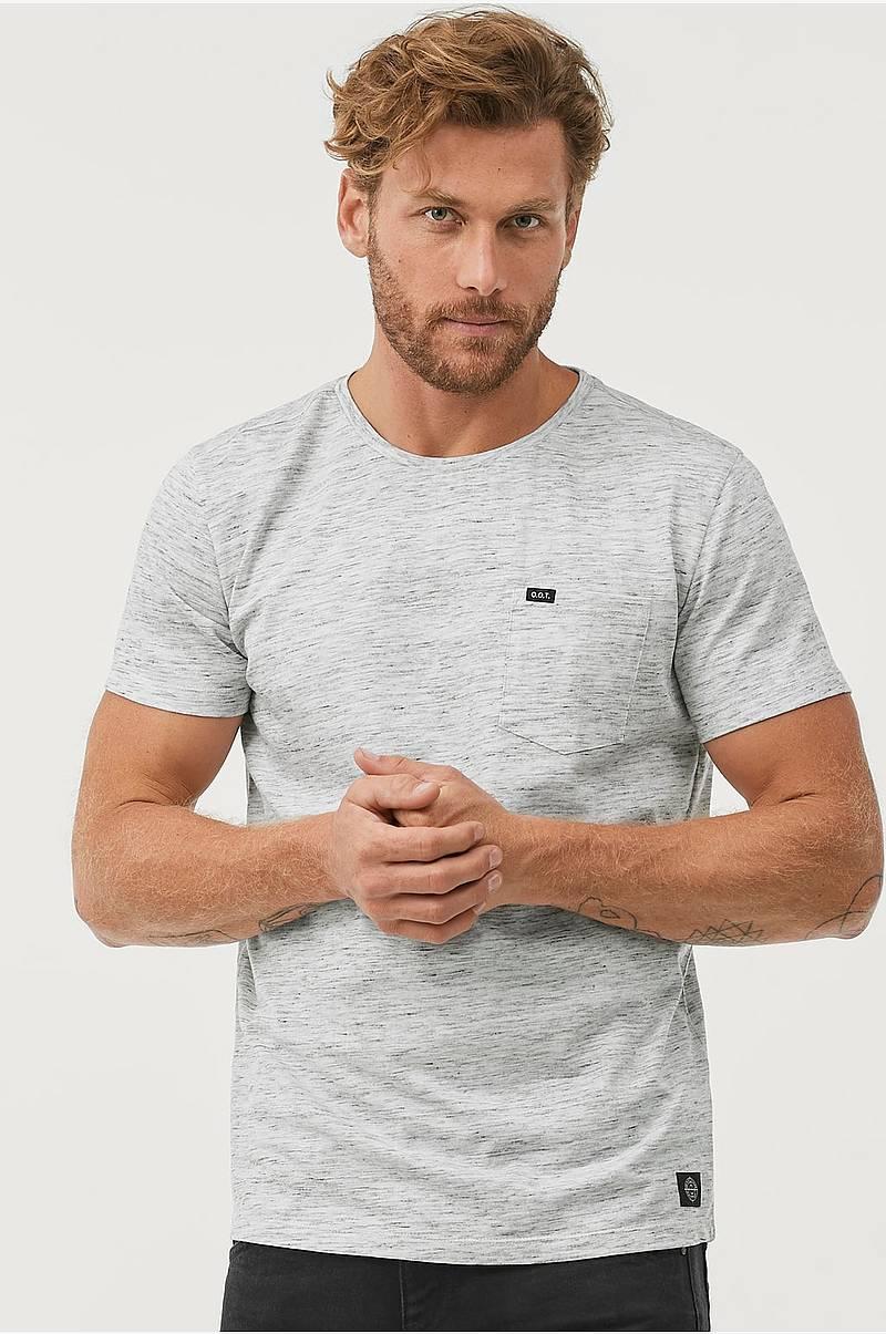 24d092e6 Melert T-shirt med brystlomme