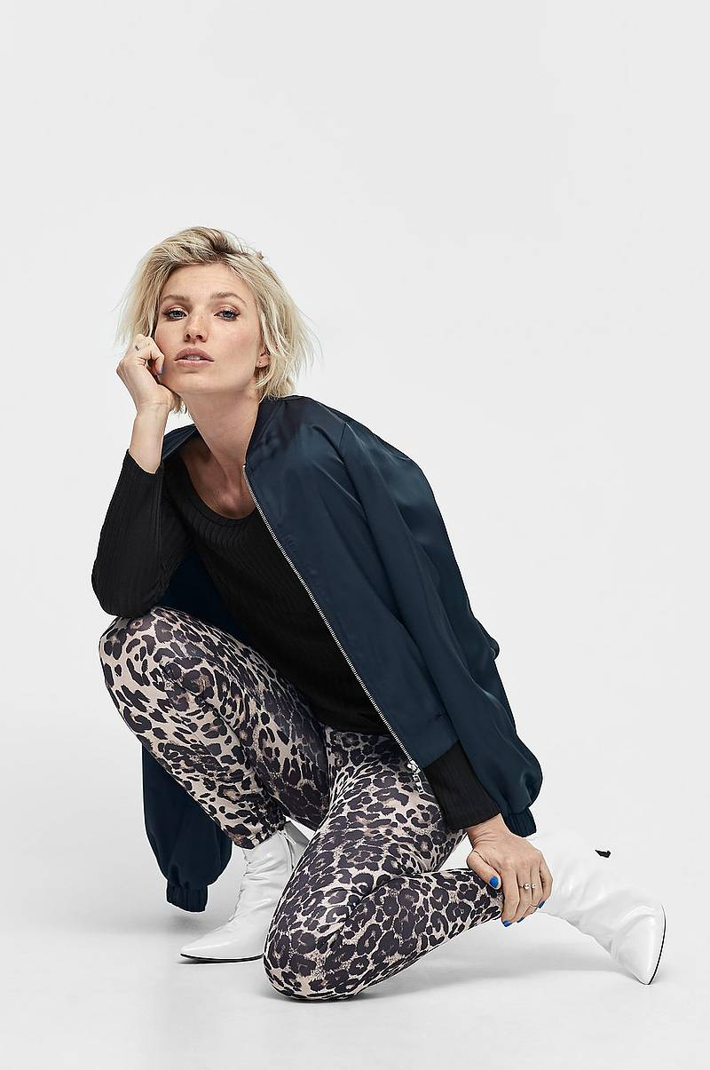 Leggings Bon, leopardmønstret