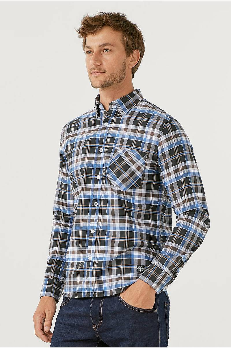 Oxfordskjorta med button down-krage