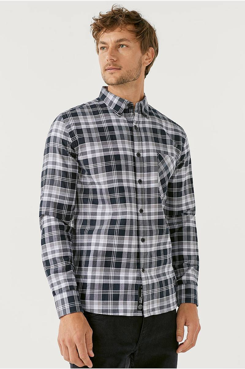Oxfordskjorte med button down-krage