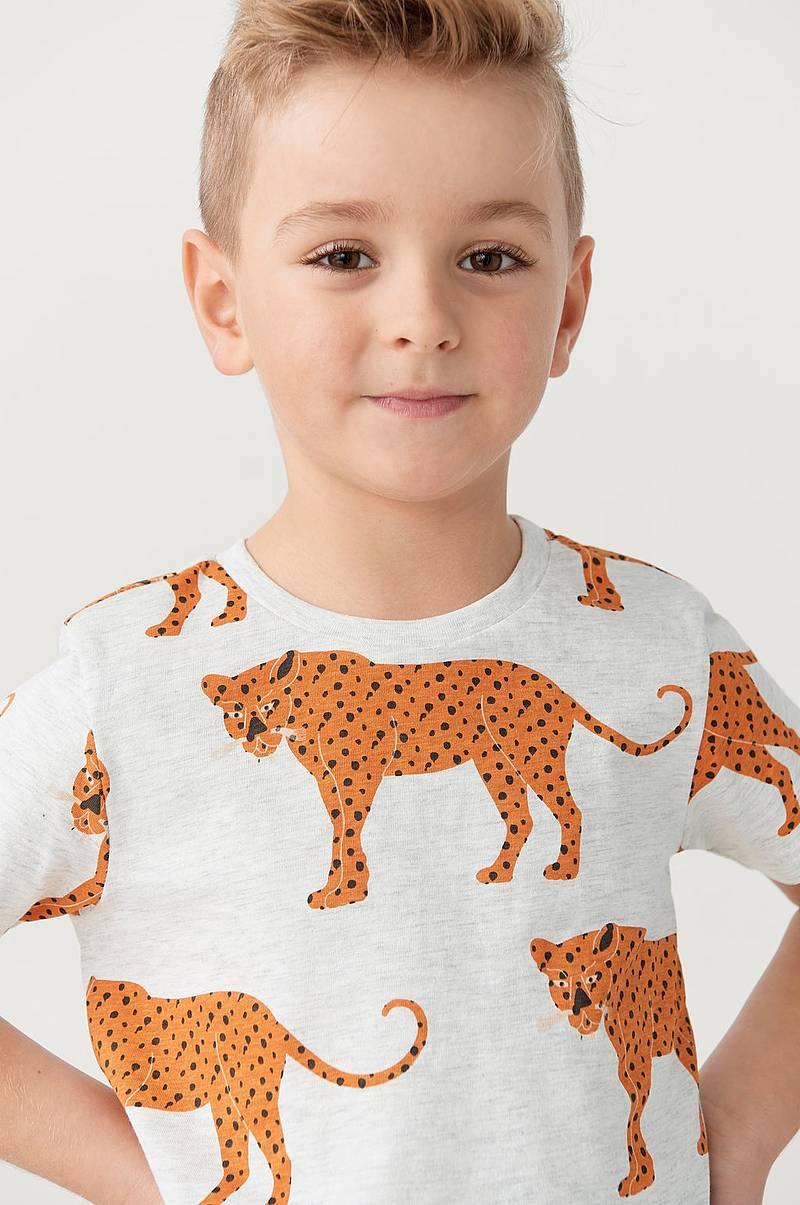 Childrens T shirt med Print og Patch broderi Barn t skjorter