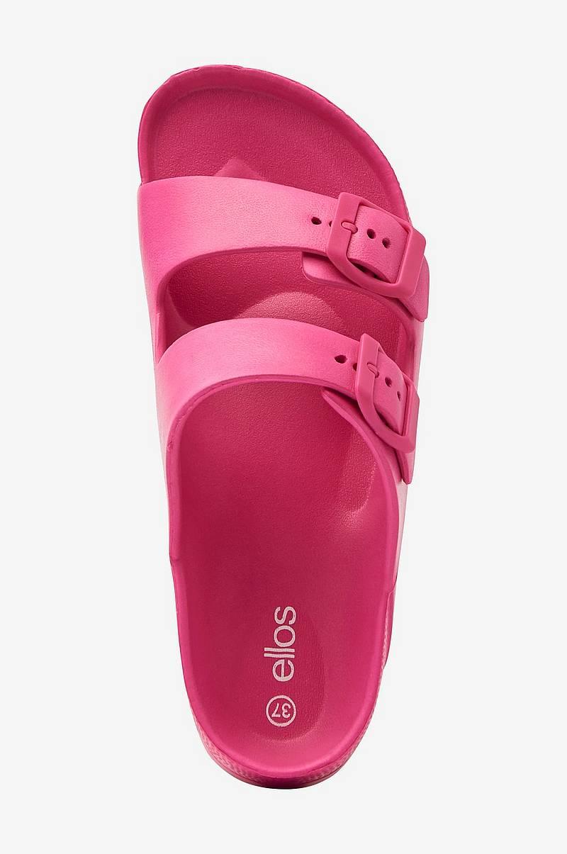 Dame Sko The white brand Rosa Slippers Pink Fur Bedste pris