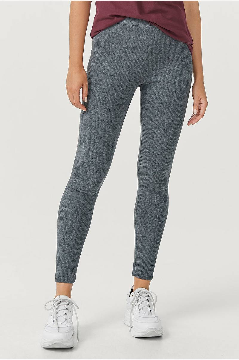 Ribbstrikkede leggings Sally