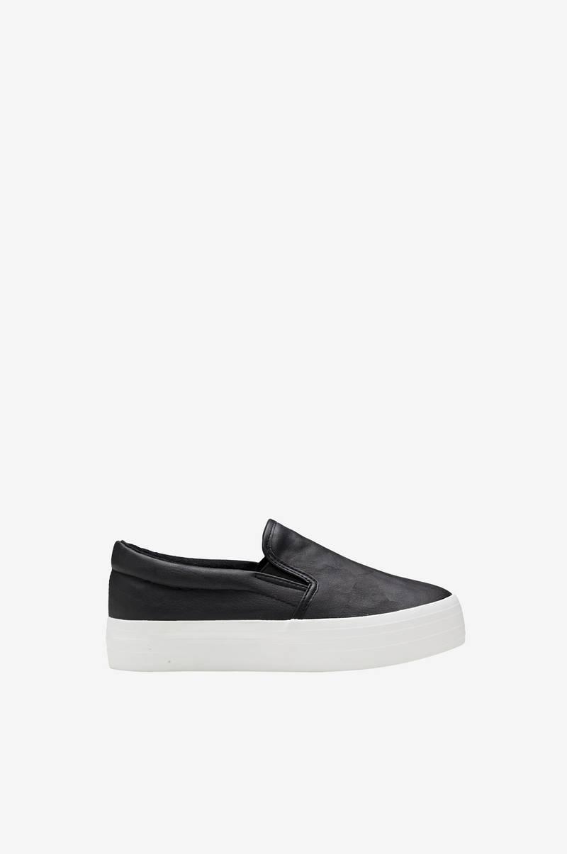 Ellos Shoes Sneakers slip on platå Svart Dam Ellos.se