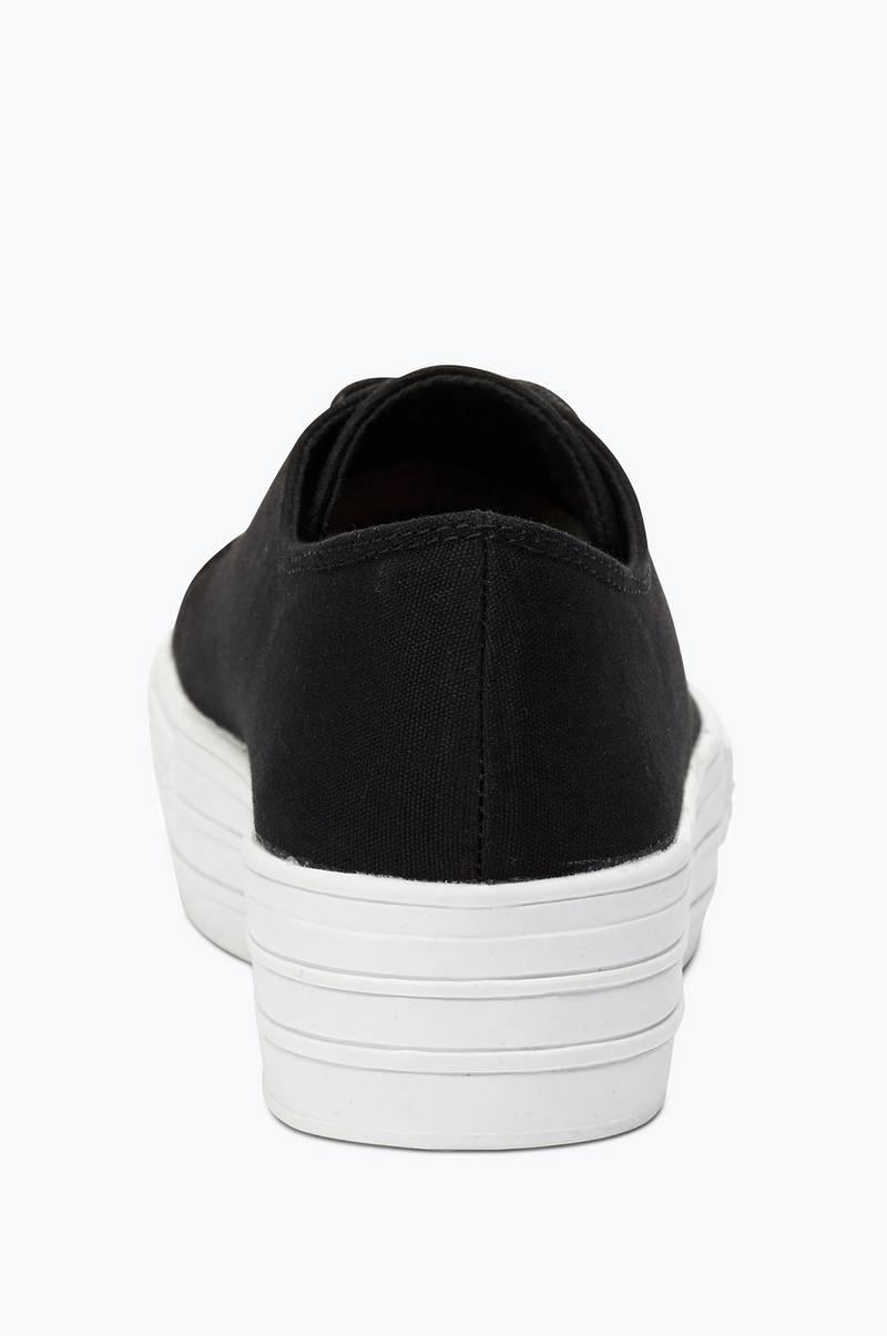 Ellos Shoes Sneakers med vit platå Svart Dam Ellos.se