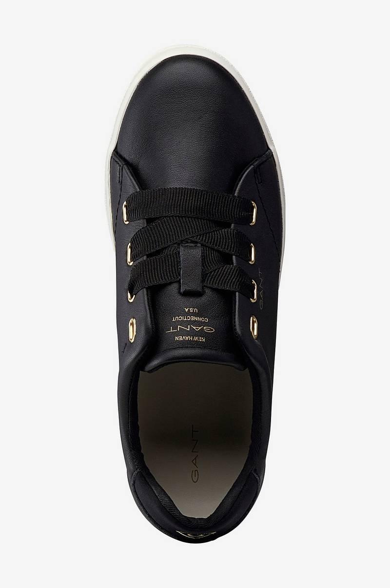 Gant Sneakers Aurora Low Lace i skinn Svart Dam Ellos.se