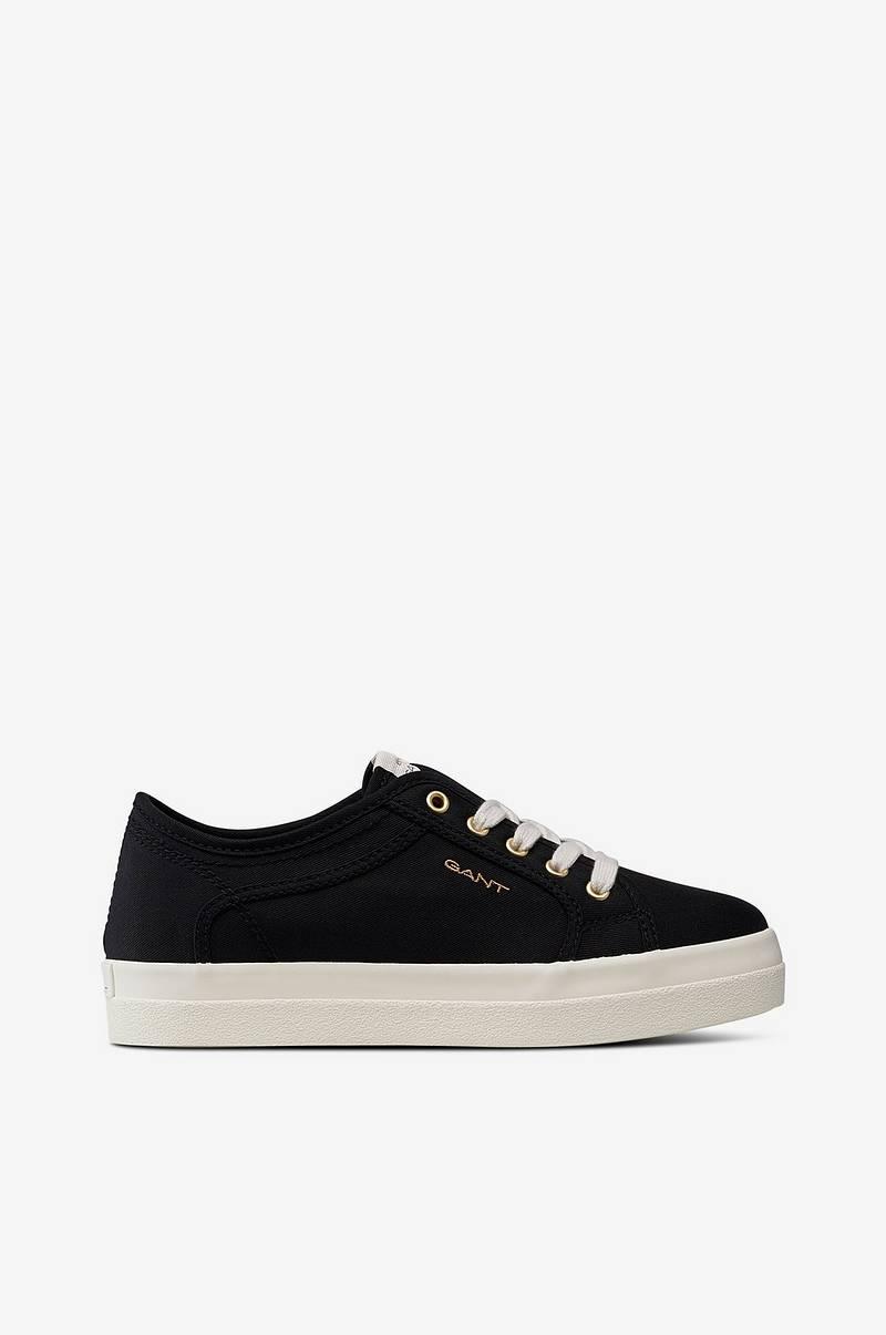Gant Sneakers Aurora Low Lace i textil Svart Dam Ellos.se